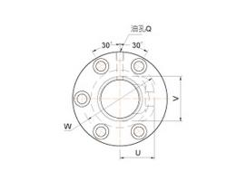 外循环管凸出型双螺帽滚珠丝杠FDVC